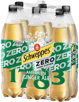 Schweppes American Ginger Ale Zero PET 6x1,25 (Tray)