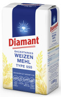 Diamant Backstarkes Weizenmehl Type 550 1 kg-Packung