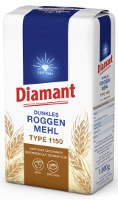 Diamant Dunkles Roggenmehl Type 1150 1 kg-Packung