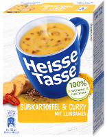 Erasco Heisse Tasse - Süßkartoffel & Curry 3x150 ml