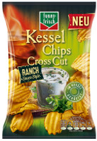 Funny Frisch Kessel Chips Cross Cut Ranch Sauce Style 120 g-Beutel