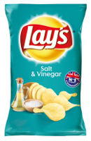 Lay´s Chips Salt & Vinegar 175 g Beutel