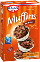 Dr. Oetker Muffins Schoko 335 g-Packung (Backmischung)