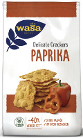Wasa Delicate Crackers Paprika 150 g-Beutel